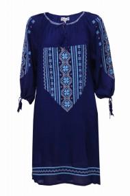 Rochie dama motive traditionale bleumarin dae3543
