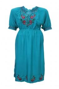 Rochie dama motive traditionale turcoaz dae3762