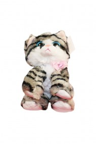 Jucarie de plus Pisica cu sunet 23 cm dae5642