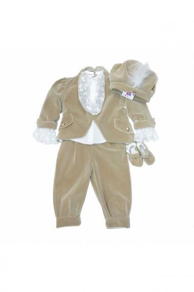 Costum Prinț pentru băieți 5 piese bej dae6656