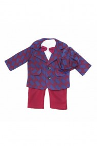 Costum pentru băieți 5 piese grena dae6663