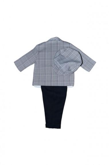 Costum pentru băieți 5 piese negru-gri dae6932