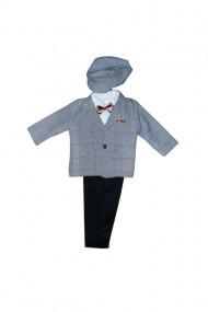 Costum pentru băieți 5 piese negru-gri dae6934