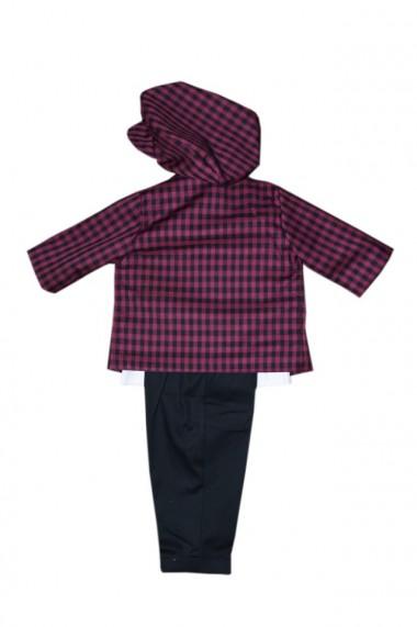 Costum pentru băieți 5 piese negru-mov dae6937