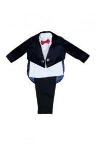 Costum frac pentru băieți 4 piese negru-bleumarin inchis dae6939