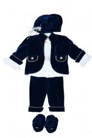 Costum pentru botez 6 piese bleumarin DAE6941