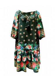 Rochie pentru dama din casmir cu motive traditionale multicolor DAE8060