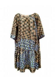 Rochie pentru dama din casmir cu motive traditionale multicolor DAE8063