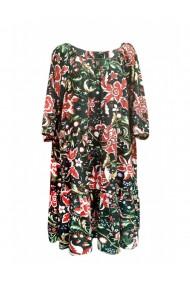 Rochie pentru dama din casmir cu motive traditionale multicolor DAE8067
