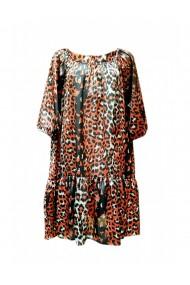 Rochie pentru dama din casmir cu motive traditionale multicolor DAE8068