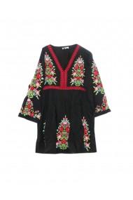 Rochie dama cu motive traditionale negru DAF175