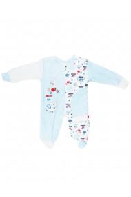 Salopeta bebe cu caciulita catifea baieti dae8204