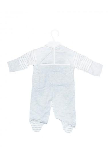 Set 5 piese bebe body bluza pantaloni manusi caciulita gri dae8221
