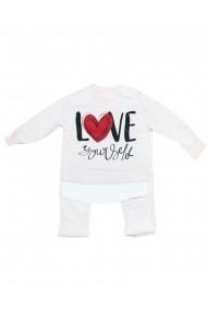 Compleu pentru fete din 2 piese bebe bluza pantaloni crem dae8226