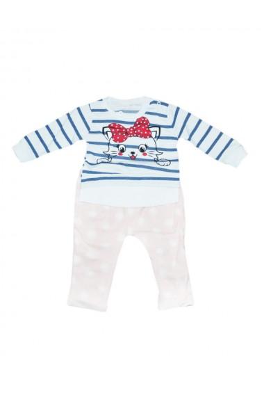 Compleu pentru fete din 2 piese bebe bluza pantaloni crem dae8227