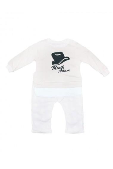 Compleu pentru fete din 2 piese bebe bluza pantaloni crem dae8228