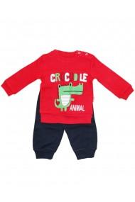 Compleu pentru baieti compus din 2 piese bluza si pantaloni rosu dae8250