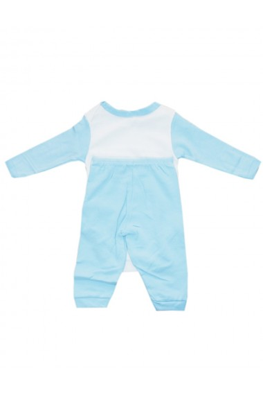 Compleu pentru baieti compus din 2 piese body si pantaloni alb/albastru dae8251