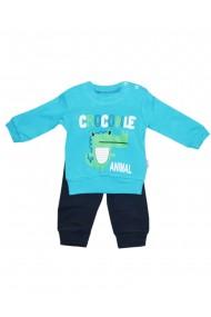 Compleu pentru baieti compus din 2 piese bluza si pantaloni turcoaz dae8252