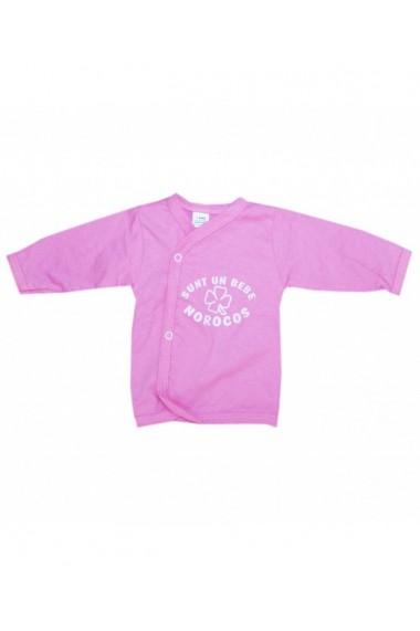 Pieptaras bebe cu maneca lunga roz dae8280