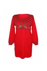 Rochie pentru dama cu motive traditionale rosu DAE8306