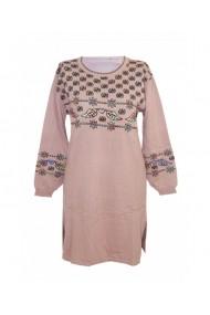 Rochie pentru dama cu motive traditionale roz DAE8312