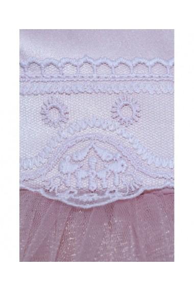 Rochita cu blanita si turban pentru botez Alb/ roz pudrat 3 piese dae8184
