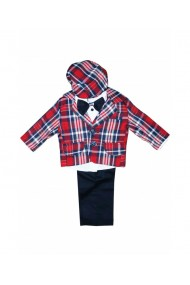 Costum pentru baieti 6 piese sacou vesta pantaloni camasa bascuta papion multicolor dae8665