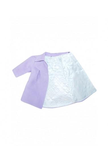 Palton din stofa casual pentru fete lila dae8668