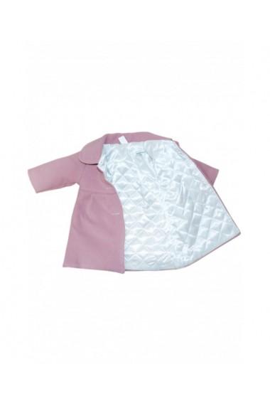 Palton din stofa casual pentru fete roz pudrat dae8669