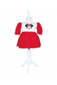 Rochita cu buline pentru botez Minnie Mouse rosu dae8670