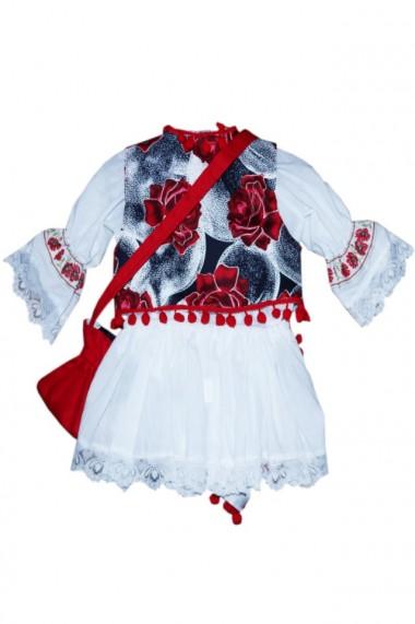 Costum traditional 5 piese de botez fete dae4148