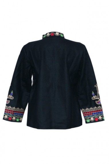 Palton traditional Negru DAE6643