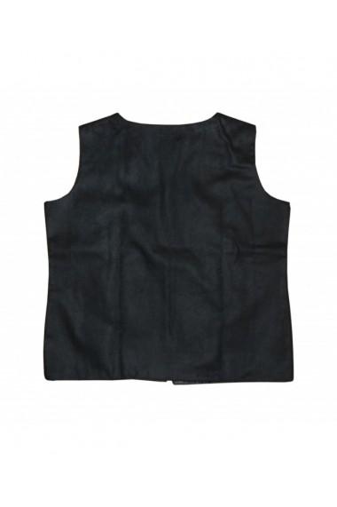 Vesta dama cu motive traditionale negru DAE8176