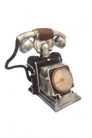 Pusculita Telefon retro cu ceas 15x19 cm dae846