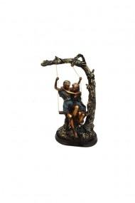 Statueta rasina baiat si fata in leagan 20x28 cm dae803