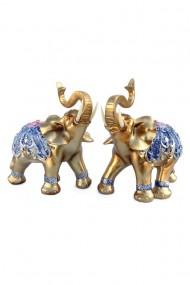 Set elefanti cu pietre si oglinda 23X23 cm dae3005