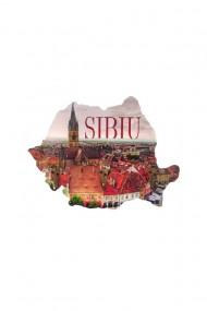 Cuier-Harta Sibiu-3 agatatori 23x18cm dae4057