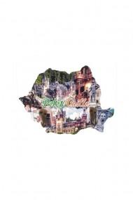 Cuier-Harta Castelul Peles-2 agatatori 18x13cm dae4065