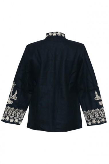 Palton traditional Negru DAE6642