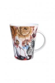 Set 12 bucati cani ceramica cu flori si pantofi dae6776