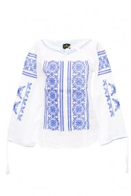 Bluza dama tip ie brodata traditionala Alb dae5156