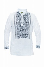Bluza barbati tip ie brodata traditional Alb DAE6635