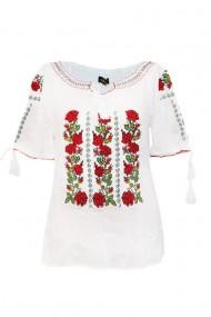 Bluza tip ie pentru dama Alb DAE6985