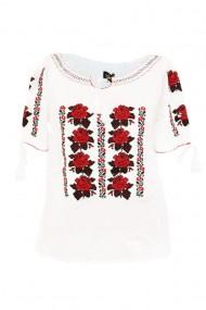 Bluza tip ie pentru dama Alb DAE6995