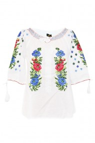Bluza tip ie pentru dama Alb DAE7050