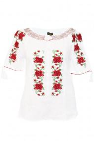 Bluza tip ie pentru dama Alb DAE7058