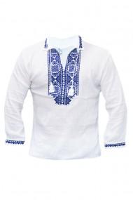 Bluza barbati tip ie alb traditionala DAE4174