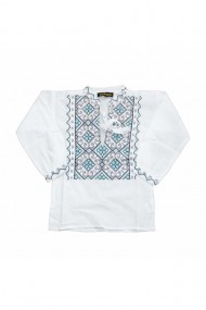 Bluza tip ie baieti brodata traditional alb DAE6611
