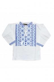 Bluza tip ie baieti brodata traditional alb DAE6612
